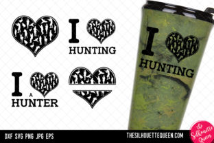 Download Free Hunting Heart Valentines Day Graphic By Thesilhouettequeenshop for Cricut Explore, Silhouette and other cutting machines.