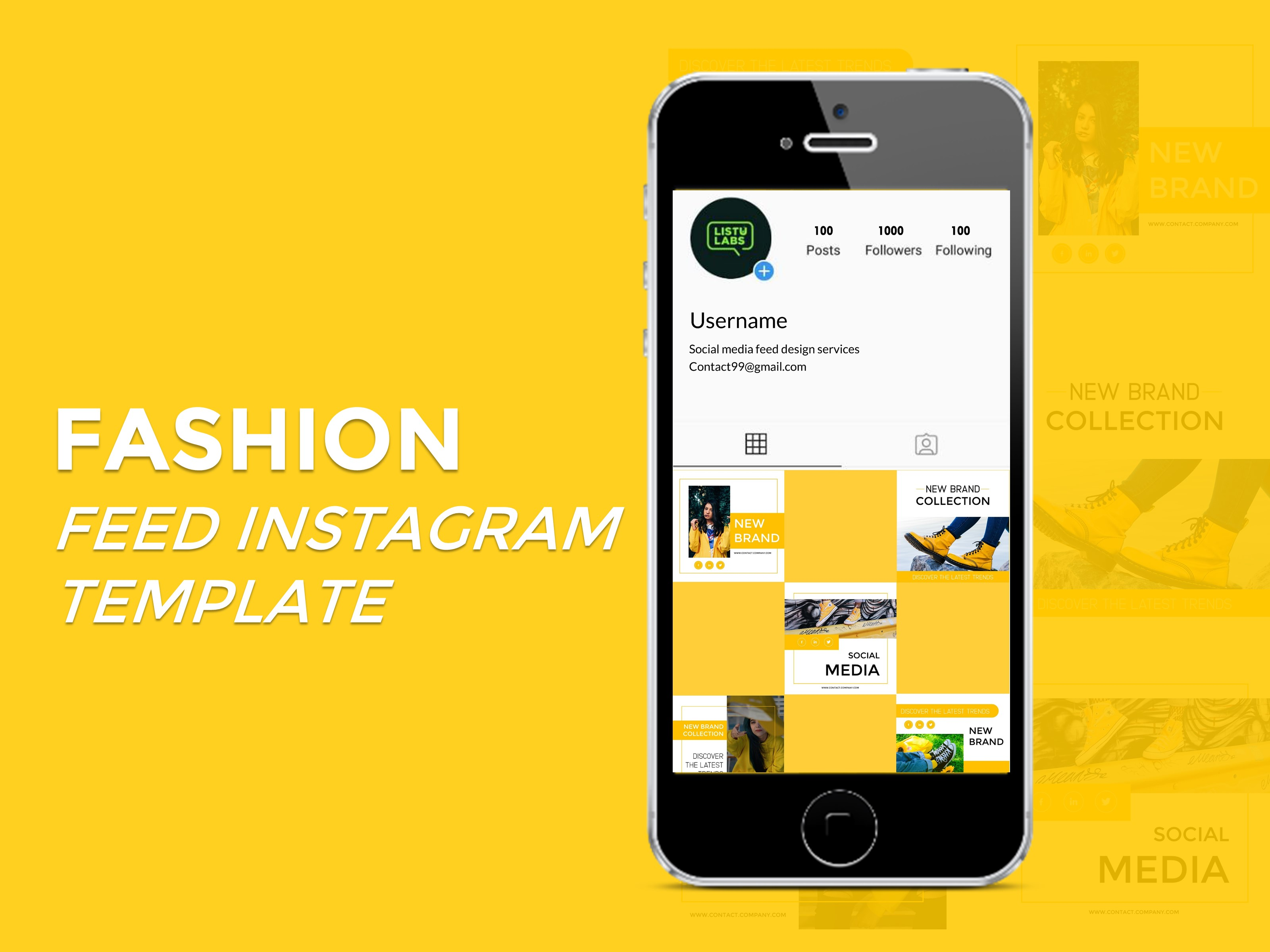 Download Free Instagram Feed Ppt Template Fashion Graphic By Listulabs for Cricut Explore, Silhouette and other cutting machines.
