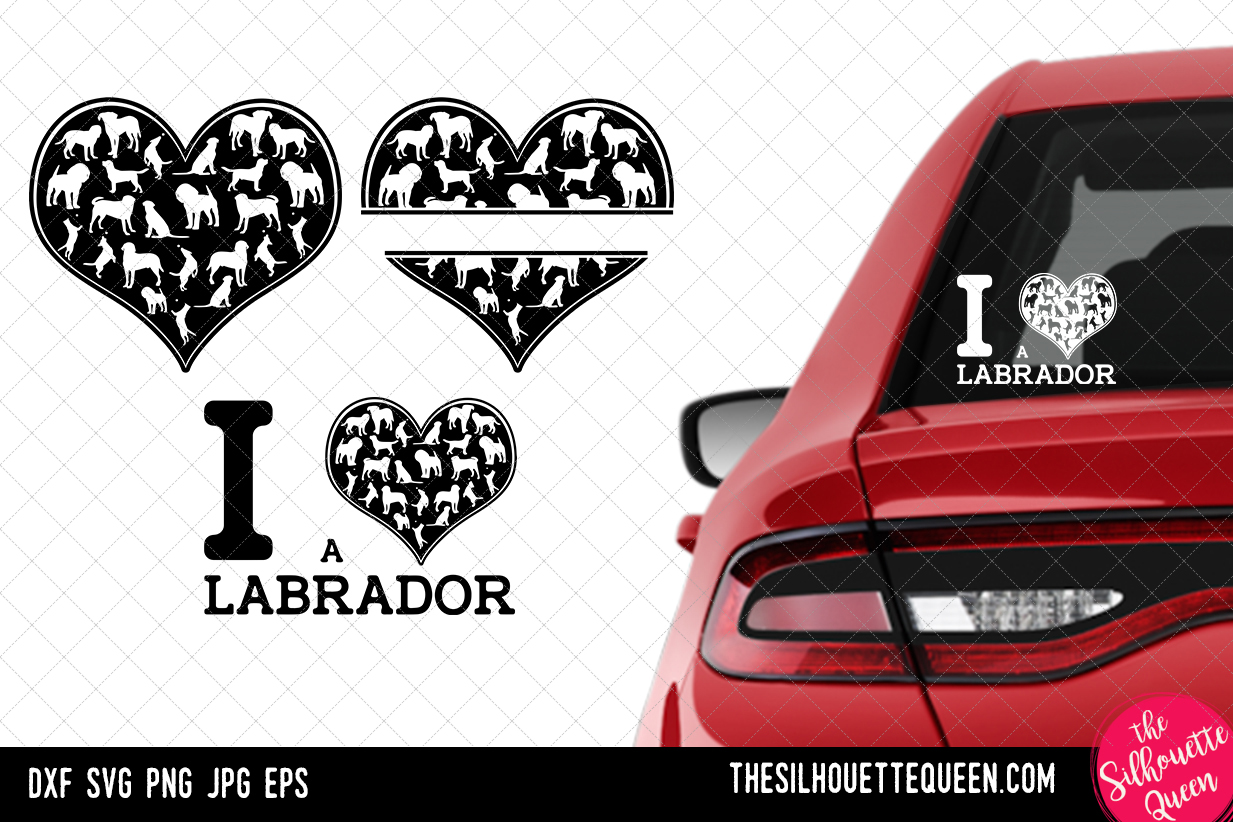 Download Free Labrador Heart Valentines Day Graphic By Thesilhouettequeenshop for Cricut Explore, Silhouette and other cutting machines.