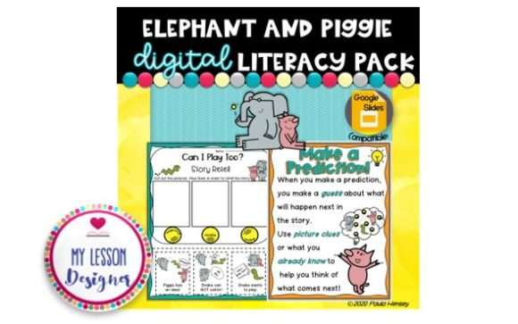 Learning with Elephant and Piggie Graphic 1st grade By My Lesson Designer