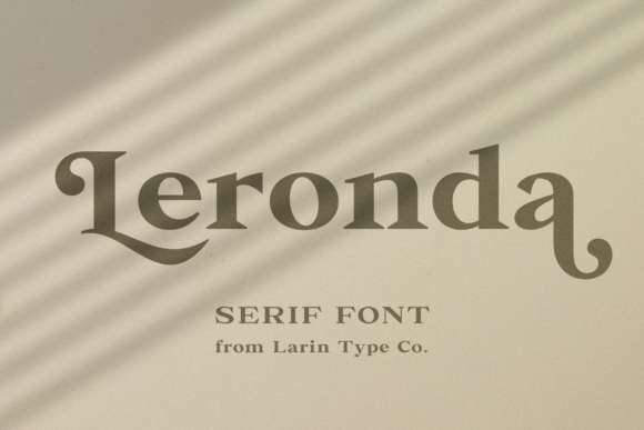 Print on Demand: Leronda Serif Font By Pasha Larin