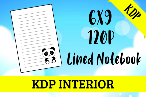 Print on Demand: Lined Notebook with Panda | KDP Interior Graphic KDP Interiors By KDP Mastermind