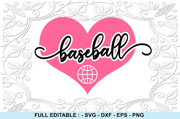 Print on Demand: Love Basetball Graphic Crafts By creativesya