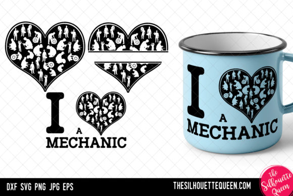 Download Free Mechanic Heart Valentines Day Graphic By Thesilhouettequeenshop for Cricut Explore, Silhouette and other cutting machines.