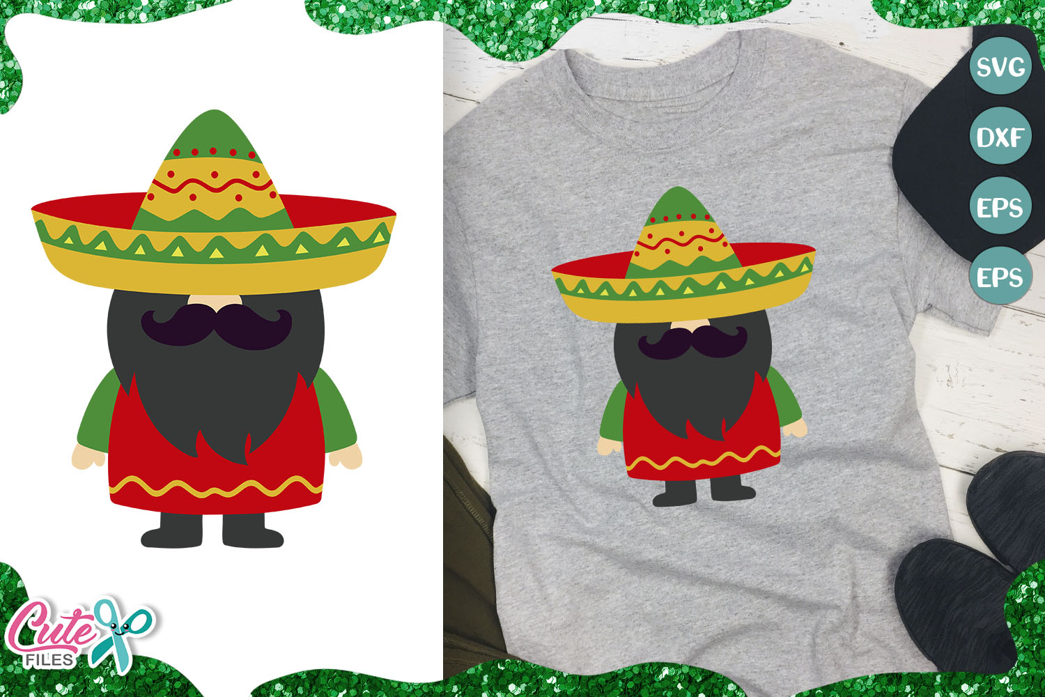 Download Free Mexican Gnome 5th Of May Graphic By Cute Files Creative Fabrica for Cricut Explore, Silhouette and other cutting machines.