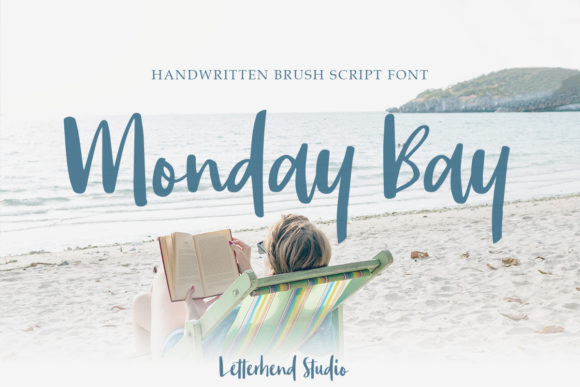 Print on Demand: Monday Bay Script & Handwritten Font By letterhend