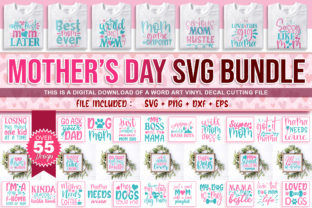 Download Free Mother S Day Design Bundle Graphic By Subornastudio Creative for Cricut Explore, Silhouette and other cutting machines.