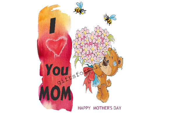 Download Free Mothers Day Love You Mom Graphic By Aarcee0027 Creative Fabrica for Cricut Explore, Silhouette and other cutting machines.