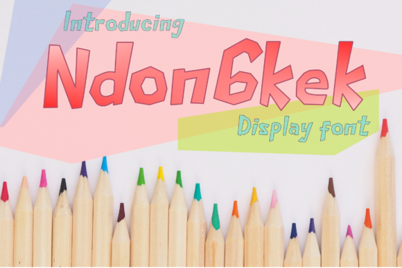Print on Demand: Ndongkek Display Font By WarejoW