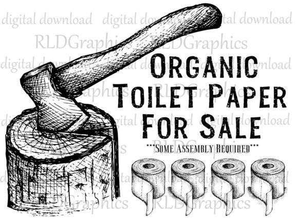 Download Free Organic Toilet Paper For Sale Graphic By Rldgraphics Creative for Cricut Explore, Silhouette and other cutting machines.