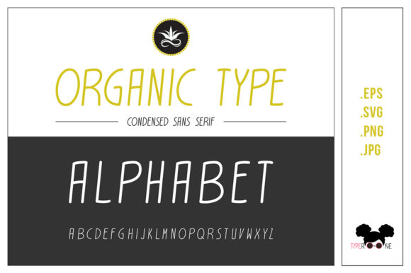 Organic Type Vector Alphabet Graphic Illustrations By typerookie