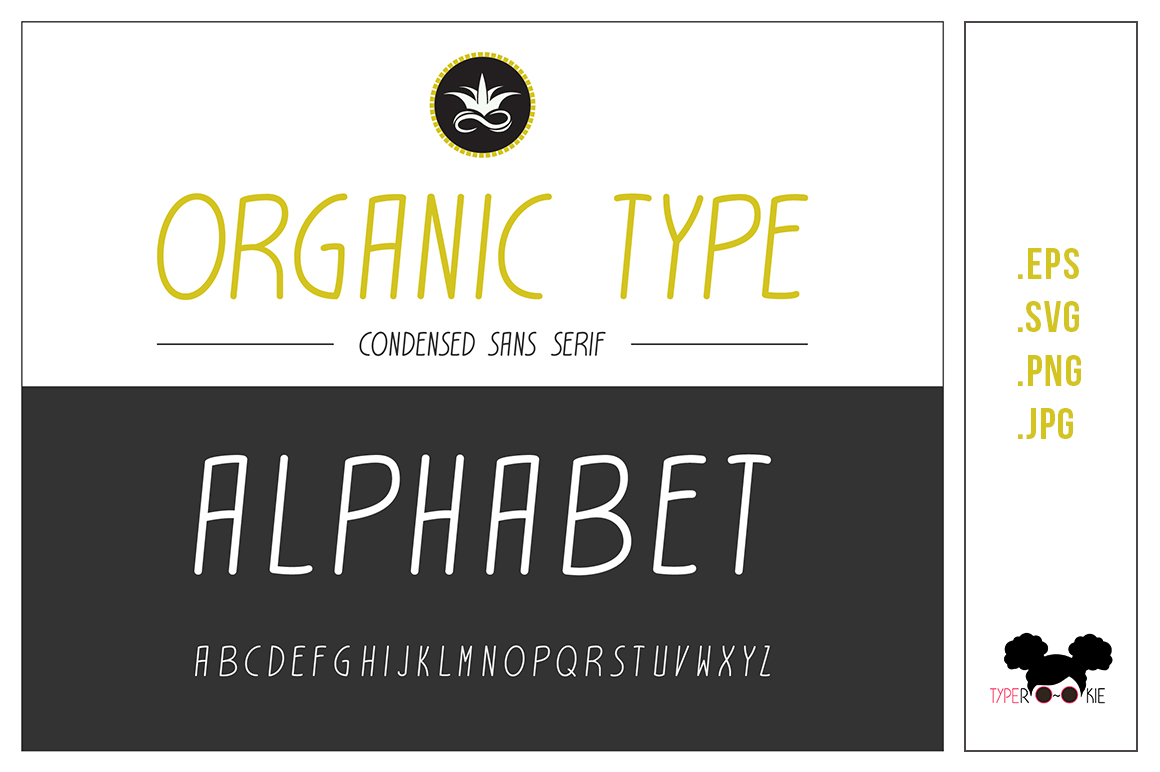 Download Free Organic Type Vector Alphabet Grafik Von Typerookie Creative for Cricut Explore, Silhouette and other cutting machines.