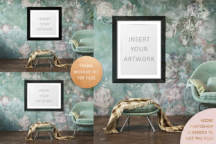 Print on Demand: Art Frame Mockup Set #1 Graphic Product Mockups By daphnepopuliers