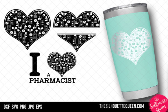 Download Free Pharmacist Heart Valentines Day Graphic By for Cricut Explore, Silhouette and other cutting machines.