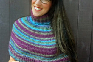 Plume Capelet Knit Pattern Graphic Knitting Patterns By Knit and Crochet Ever After
