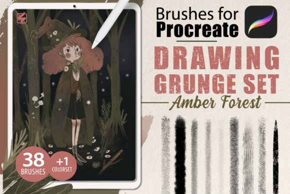 Procreate - Drawing Grunge Brushes Graphic Brushes By dibrush