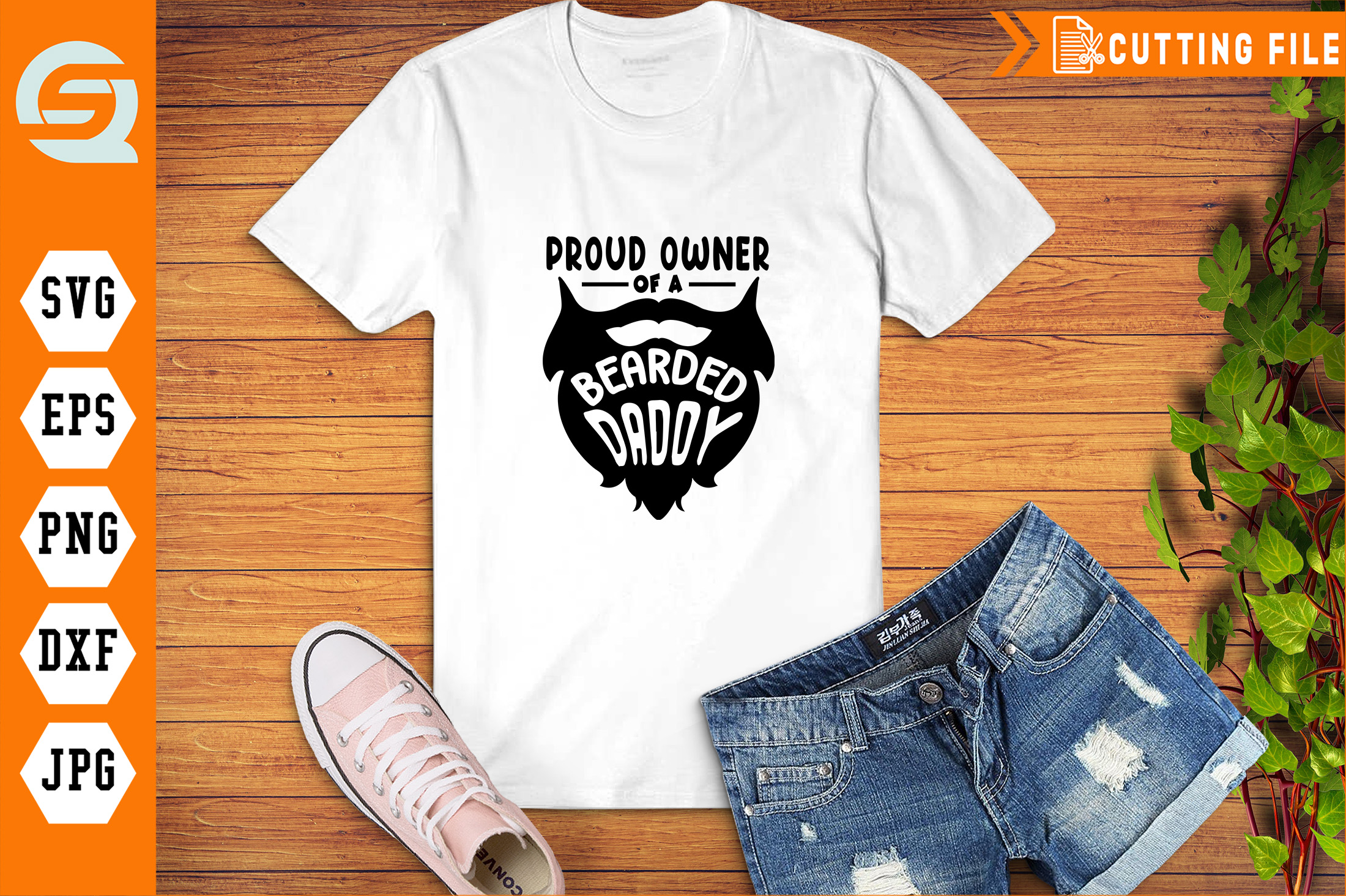 Download Free Proud Owner Of A Bearded Daddy Graphic By Qara Studio Creative for Cricut Explore, Silhouette and other cutting machines.