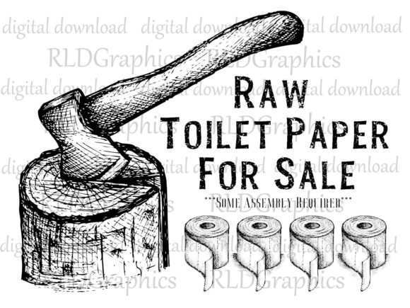 Download Free Raw Toilet Paper For Sale Graphic By Rldgraphics Creative Fabrica for Cricut Explore, Silhouette and other cutting machines.