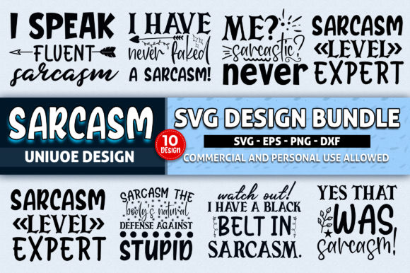 Download Free Sarcasm Bundle Graphic By Subornastudio Creative Fabrica for Cricut Explore, Silhouette and other cutting machines.