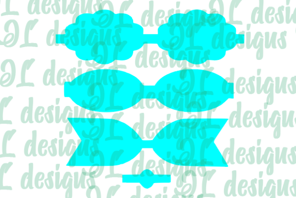 Print on Demand: Scalloped Bow Template Graphic 3D SVG By JL Designs