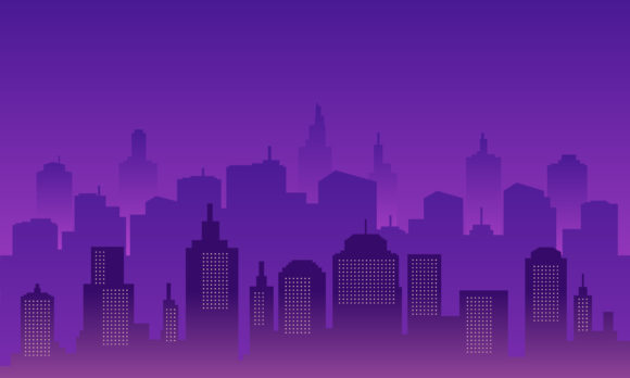Download Free Silhouette Background City Of Night Graphic By Cityvector91 for Cricut Explore, Silhouette and other cutting machines.