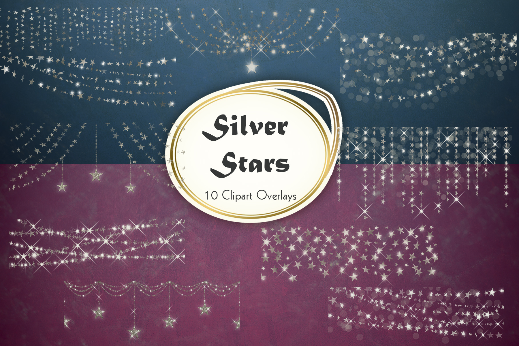 Download Free Silver Stars Light Overlay Graphic By Tara Artisan Creative for Cricut Explore, Silhouette and other cutting machines.