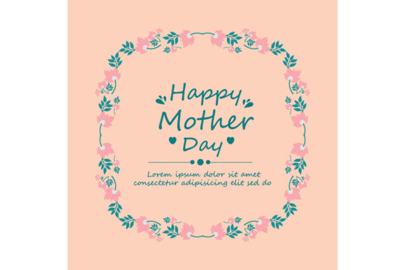 Download Free Simple Happy Mother Day Card Design Graphic By Stockfloral for Cricut Explore, Silhouette and other cutting machines.