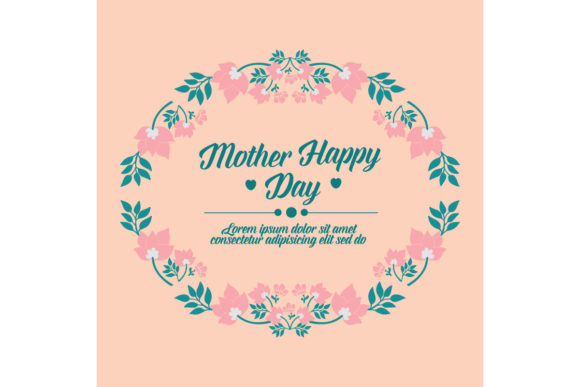 Simple Happy Mother Day Card Design Graphic By Stockfloral