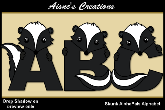 Print on Demand: Skunk AlphaPals Alphabet Graphic Objects By Aisne