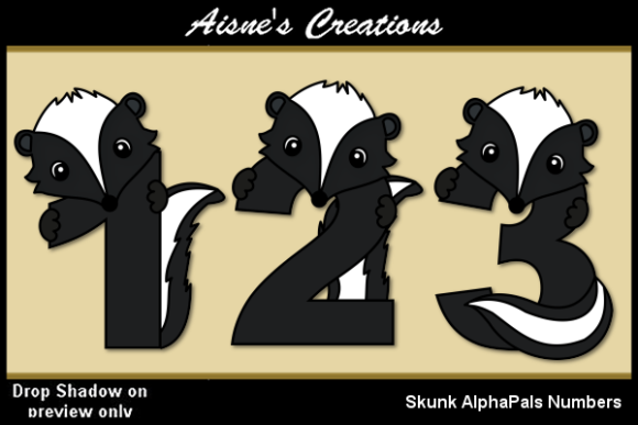 Print on Demand: Skunk AlphaPals Numbers Graphic Objects By Aisne