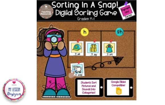 Sorting in a Snap! Digraph Game Graphic 1st grade By My Lesson Designer