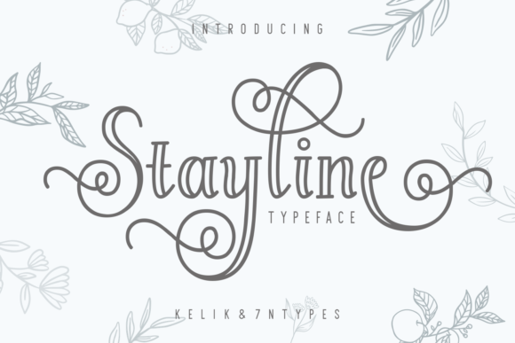 Print on Demand: Stayline Script & Handwritten Font By Kelik - 7NTypes