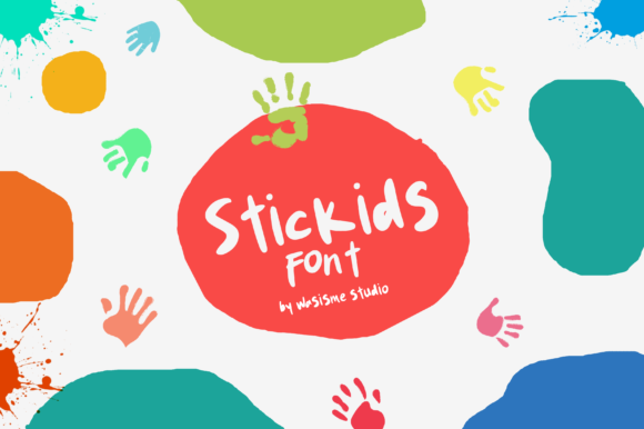 Download Free Stickids Font By Wasisme Studio Creative Fabrica for Cricut Explore, Silhouette and other cutting machines.