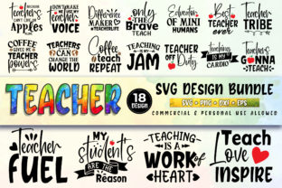 Download Free Teacher Bundle Graphic By Subornastudio Creative Fabrica for Cricut Explore, Silhouette and other cutting machines.