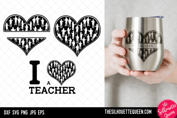 Download Free Teacher Heart Svg Valentines Day Svg Graphic By for Cricut Explore, Silhouette and other cutting machines.
