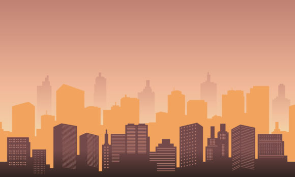 Download Free Town City Silhouette Graphic By Cityvector91 Creative Fabrica for Cricut Explore, Silhouette and other cutting machines.