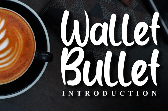 Print on Demand: Wallet Bullet Script & Handwritten Font By andikastudio
