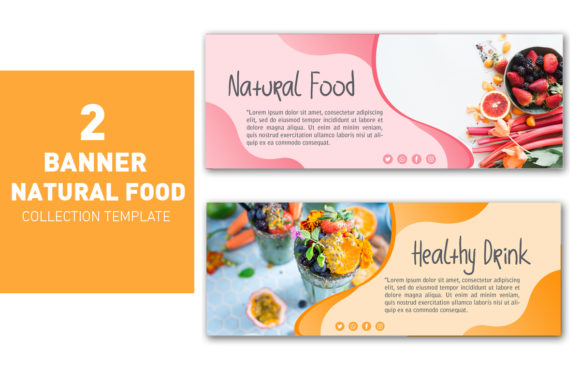 Banner Natural Food and Drink Graphic Graphic Templates By ant project template