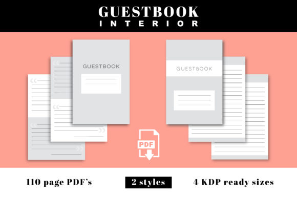 Print on Demand: KDP Interior | Guestbook Bundle<br />  Graphic KDP Interiors By KDP Love