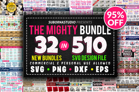 Print on Demand: 32 Bundles in 510 Design Bundles Graphic Crafts By SubornaStudio - Image 1