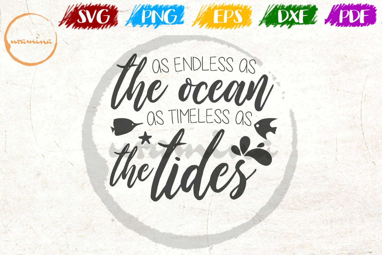 Download Free As Endless As The Ocean As Timeless Graphic By Uramina for Cricut Explore, Silhouette and other cutting machines.