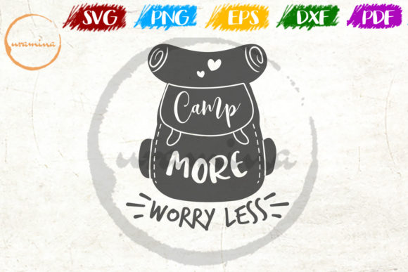 Download Free Camp More Worry Less Graphic By Uramina Creative Fabrica for Cricut Explore, Silhouette and other cutting machines.