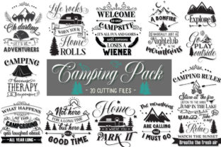 Camping Pack Graphic Crafts By Nerd Mama Cut Files