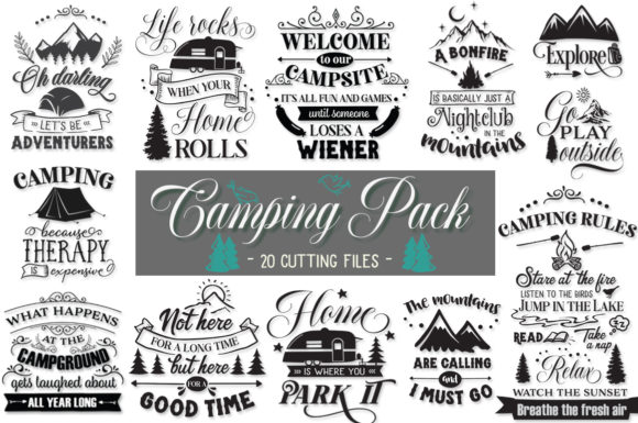 Print on Demand: Camping Pack Graphic Crafts By Nerd Mama Cut Files
