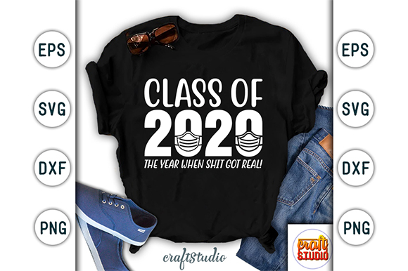 Download Free Class Of 2020 Graduation Design Graphic By Craftstudio for Cricut Explore, Silhouette and other cutting machines.