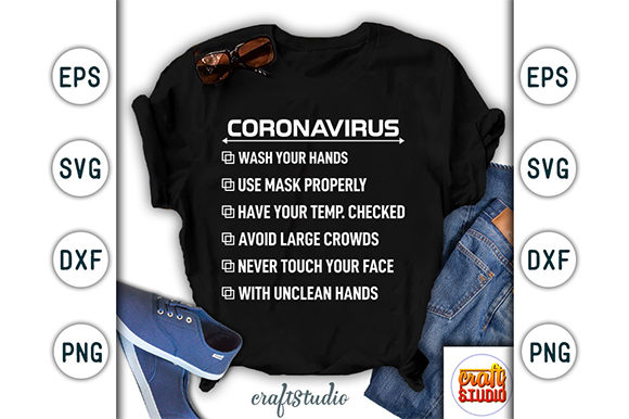 Download Free Corona Virus Awareness Design Graphic By Craftstudio Creative for Cricut Explore, Silhouette and other cutting machines.
