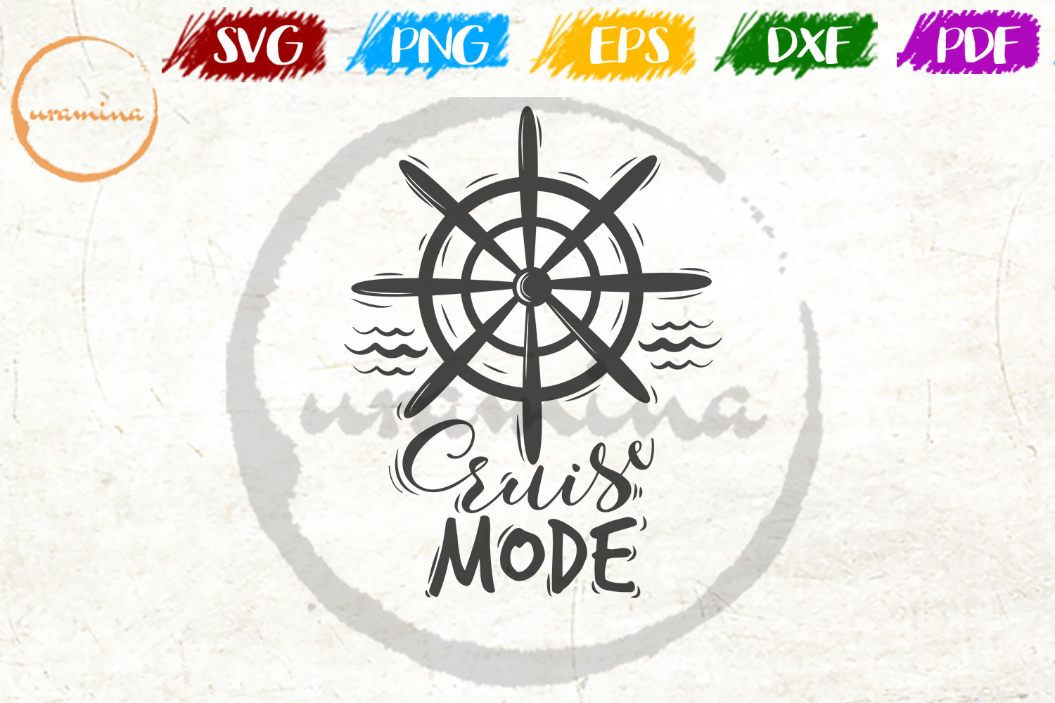 Download Free Cruise Mode Graphic By Uramina Creative Fabrica for Cricut Explore, Silhouette and other cutting machines.