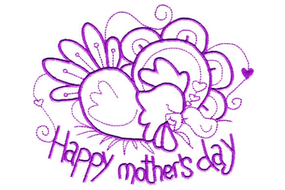 Enchanted Mother's Day Mother's Day Embroidery Design By Sue O'Very Designs