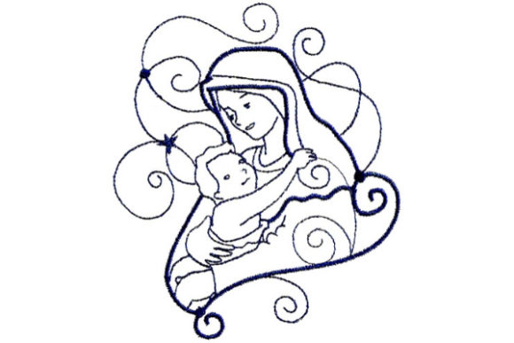 Enchanted Nativity Christmas Embroidery Design By Sue O'Very Designs
