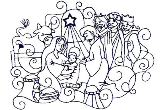 Enchanted Nativity Christmas Embroidery Design By Sookie Sews